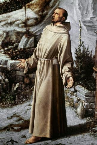 St. Francis Of Assisi-Giovanni Bellini-Stretched Canvas Print
