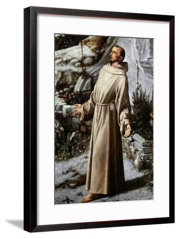St. Francis Of Assisi-Giovanni Bellini-Framed Art Print