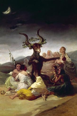Goya: Witches Sabbath-Francisco de Goya-Stretched Canvas Print