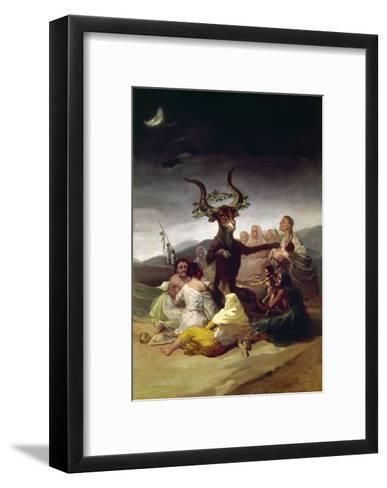 Goya: Witches Sabbath-Francisco de Goya-Framed Art Print