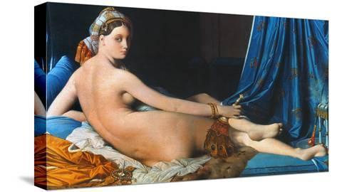 J.A.D. Ingres: Odalisque-Jean-Auguste-Dominique Ingres-Stretched Canvas Print