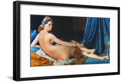 J.A.D. Ingres: Odalisque-Jean-Auguste-Dominique Ingres-Framed Art Print
