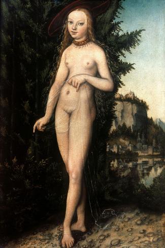 Cranach: Aphrodite/Venus-Lucas Cranach the Elder-Stretched Canvas Print