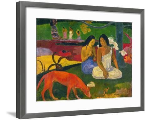 Gauguin: Arearea, 1892-Paul Gauguin-Framed Art Print