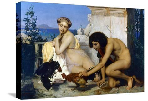 Gerome: Cockfight, 1846-Jean Leon Gerome-Stretched Canvas Print