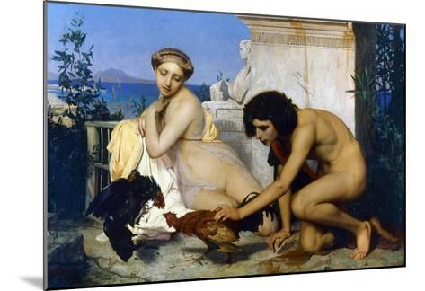 Gerome: Cockfight, 1846-Jean Leon Gerome-Mounted Giclee Print
