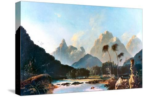 Cook: Tahiti, 1773-William Hodges-Stretched Canvas Print