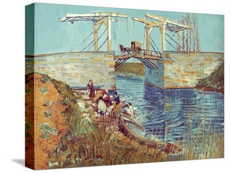 Van Gogh: Drawbridge, 1888-Vincent van Gogh-Stretched Canvas Print