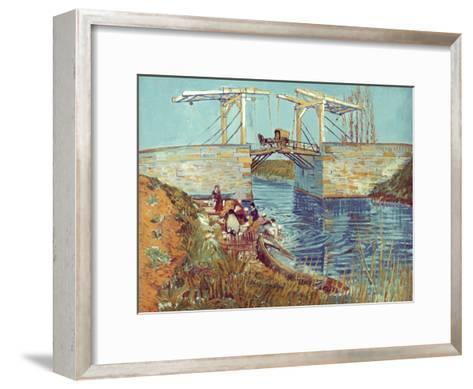 Van Gogh: Drawbridge, 1888-Vincent van Gogh-Framed Art Print