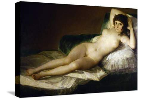 Goya: Nude Maja, C1797-Francisco de Goya-Stretched Canvas Print