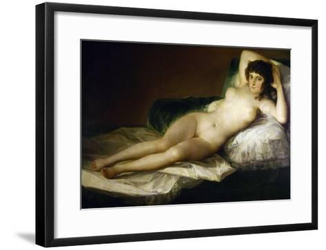 Goya: Nude Maja, C1797-Francisco de Goya-Framed Art Print