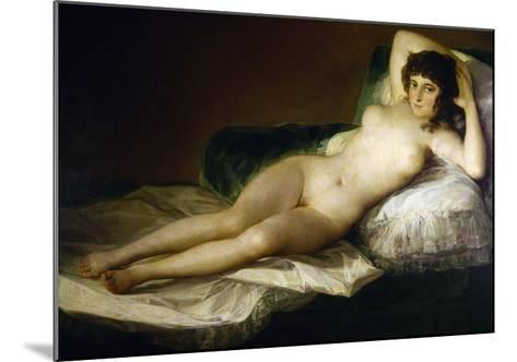 Goya: Nude Maja, C1797-Francisco de Goya-Mounted Giclee Print