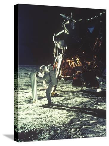 Apollo 11: Sun Sheet--Stretched Canvas Print