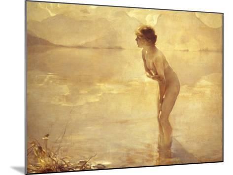 Chabas: September Morn-Paul Chabas-Mounted Giclee Print