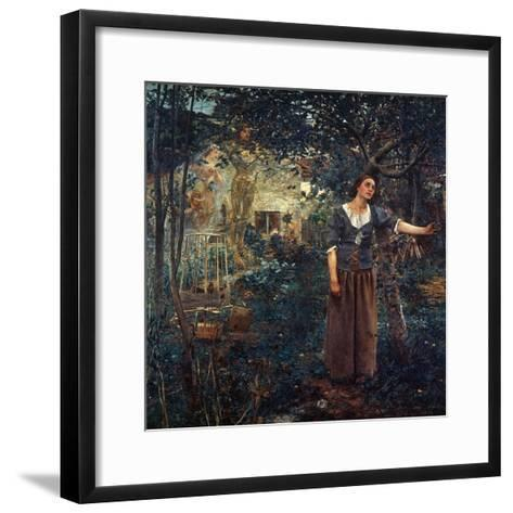 Joan Of Arc (C1412-1431)-Jules Bastien-Lepage-Framed Art Print