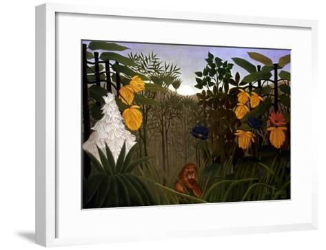 Rousseau: Lion-Henri Rousseau-Framed Art Print
