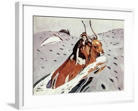 Rape Of Europa-Valentin Serov-Framed Art Print