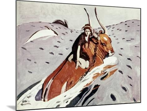 Rape Of Europa-Valentin Serov-Mounted Giclee Print