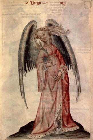 Zodiac: Virgo The Virgin- Albumasar-Stretched Canvas Print
