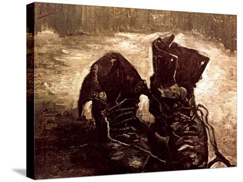 Van Gogh: Boots, 1886-Vincent van Gogh-Stretched Canvas Print
