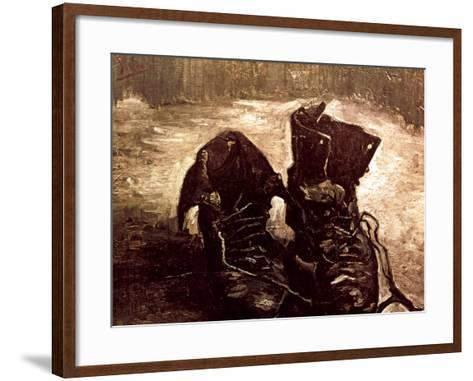 Van Gogh: Boots, 1886-Vincent van Gogh-Framed Art Print