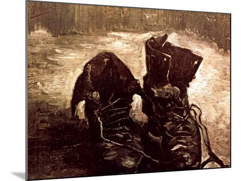Van Gogh: Boots, 1886-Vincent van Gogh-Mounted Giclee Print