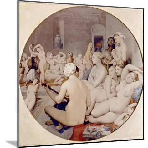 Ingres: Turkish Bath-Jean-Auguste-Dominique Ingres-Mounted Giclee Print