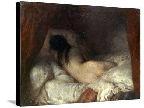 Millet: Reclining Nude-Jean-Fran?ois Millet-Stretched Canvas Print