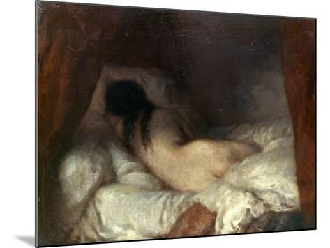 Millet: Reclining Nude-Jean-Fran?ois Millet-Mounted Giclee Print