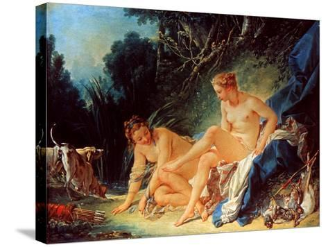 Boucher: Diana Bathing-Francois Boucher-Stretched Canvas Print
