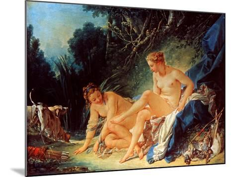 Boucher: Diana Bathing-Francois Boucher-Mounted Giclee Print