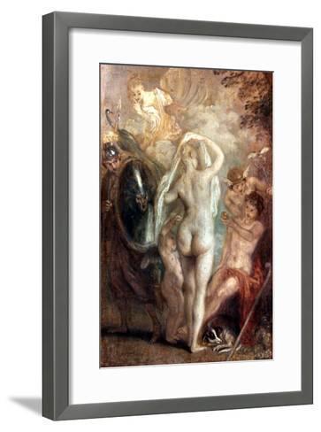Judgment Of Paris-Jean Antoine Watteau-Framed Art Print