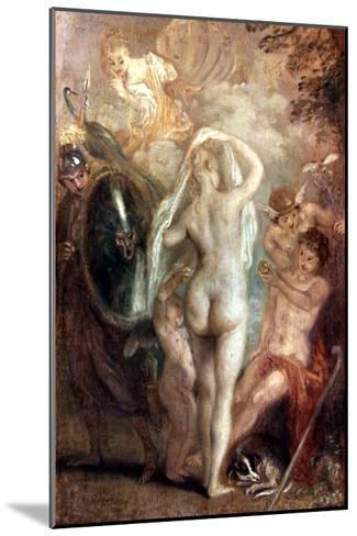 Judgment Of Paris-Jean Antoine Watteau-Mounted Giclee Print