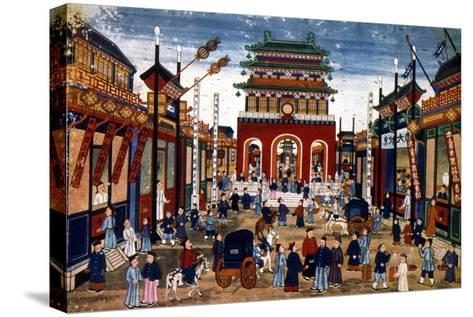 Peking: Commercial Center--Stretched Canvas Print