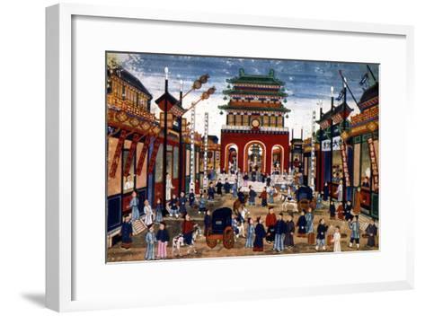 Peking: Commercial Center--Framed Art Print