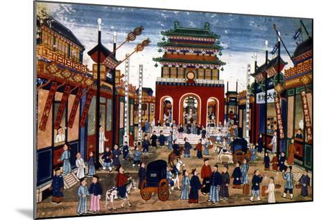 Peking: Commercial Center--Mounted Giclee Print