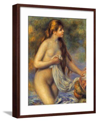 Renoir: Bather-Pierre-Auguste Renoir-Framed Art Print