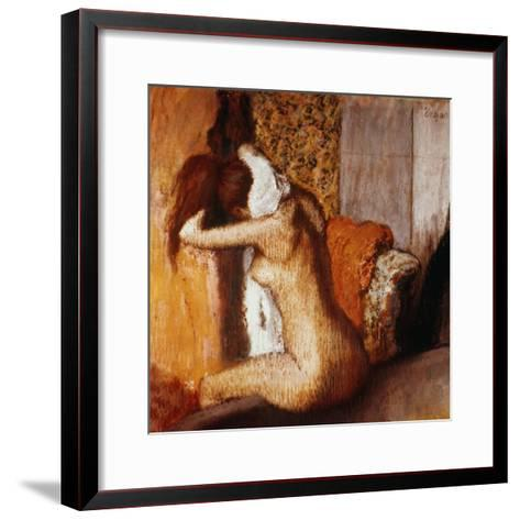 Degas: After The Bath-Edgar Degas-Framed Art Print