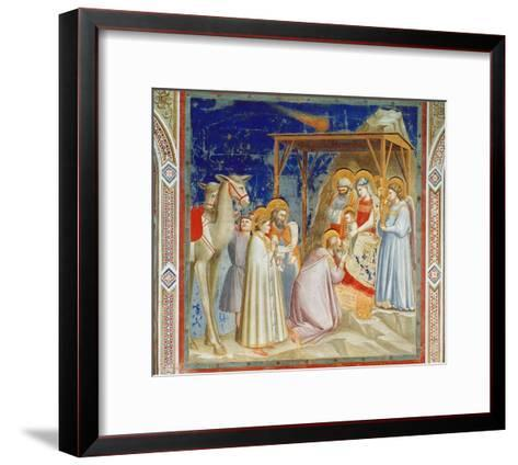 Giotto: Adoration-Giotto di Bondone-Framed Art Print