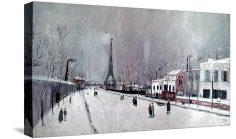 Utrillo: Eiffel Tower-Maurice Utrillo-Stretched Canvas Print