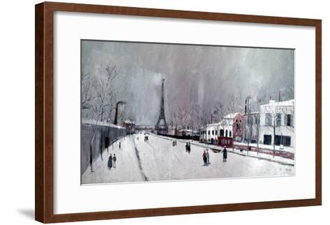 Utrillo: Eiffel Tower-Maurice Utrillo-Framed Art Print