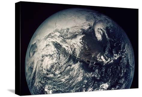 Apollo 16: Earth--Stretched Canvas Print