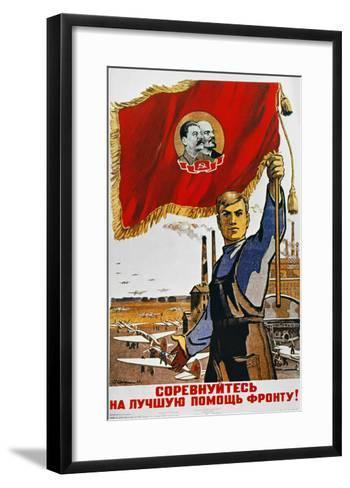 WWII: Russian Poster, 1942--Framed Art Print