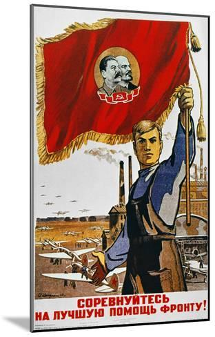 WWII: Russian Poster, 1942--Mounted Giclee Print