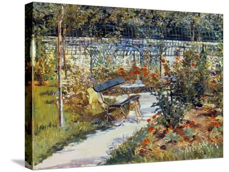 Manet: Garden, 1881-Edouard Manet-Stretched Canvas Print