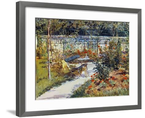 Manet: Garden, 1881-Edouard Manet-Framed Art Print