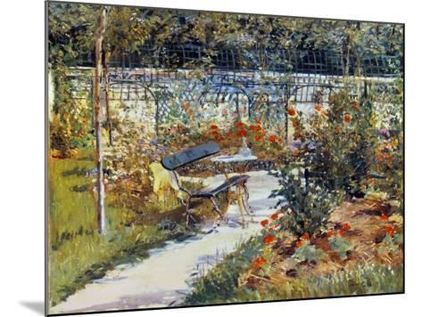 Manet: Garden, 1881-Edouard Manet-Mounted Giclee Print