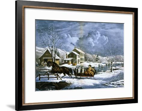 American Farm Scenes No. 4:-Currier & Ives-Framed Art Print