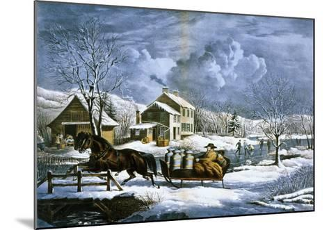 American Farm Scenes No. 4:-Currier & Ives-Mounted Giclee Print