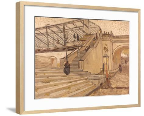 Van Gogh: Bridge, 1888-Vincent van Gogh-Framed Art Print